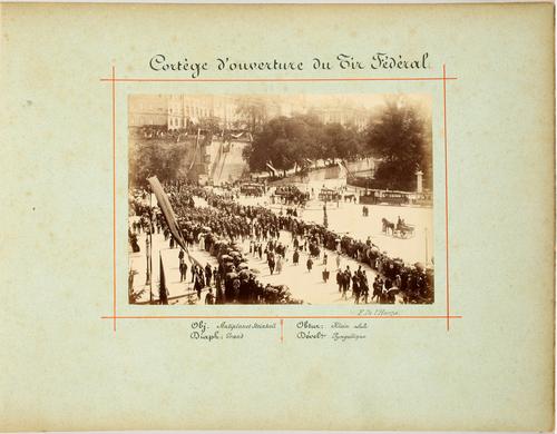 Genève, cortège d'ouverture du Tir fédéral