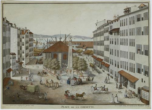 Genève, Longemalle: la place avec sa grenette