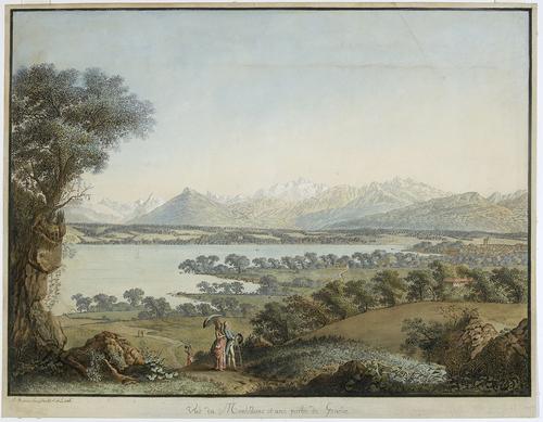 Vue du Mont Blanc et d'une partie de Genève