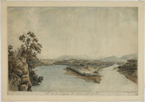 Genève et la Jonction vues des falaises de Saint-Jean