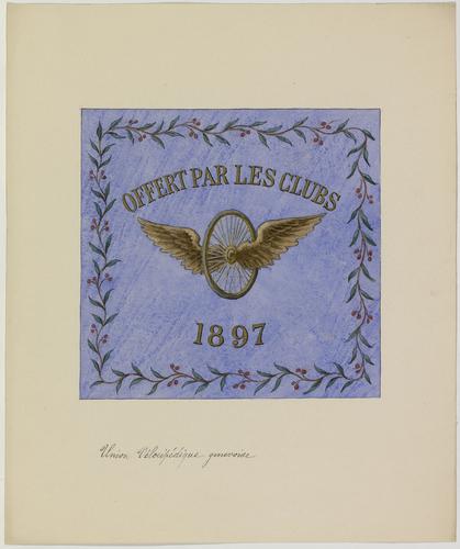 Drapeau de l'Union vélocipédique genevoise (1897)