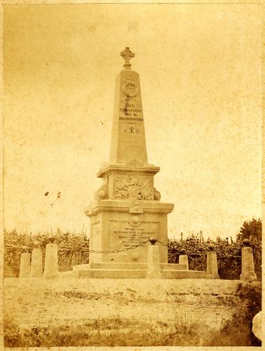 France, Morsbronn-les-Bains : monument érigé à la mémoire des cuirassiers dits de Reichshoffen