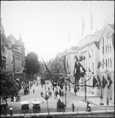 Genève, fête du Centenaire: Corraterie
