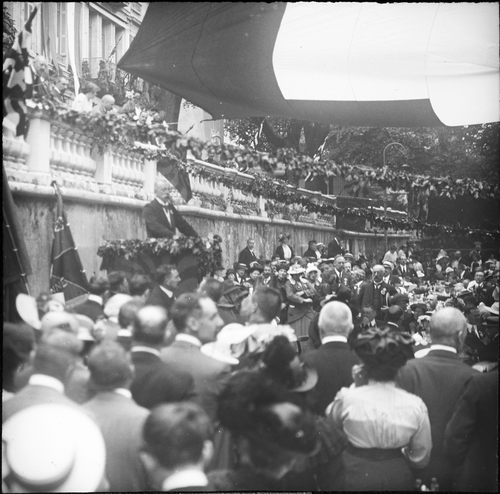 Genève, fêtes du Centenaire: discours d'Arthur Hoffmann, président de la Confédération à la Treille