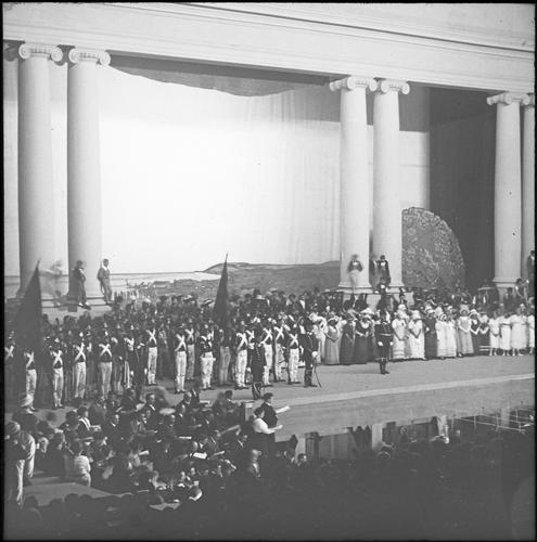 Genève, fêtes du Centenaire: le spectacle dans le théâtre du Centenaire (deuxième acte)