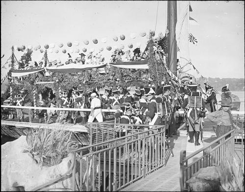 Genève, fêtes du Centenaire: barque lémanique