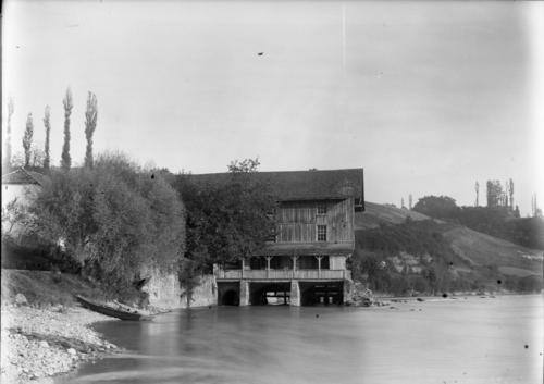 Vernier, bord du Rhône: moulin