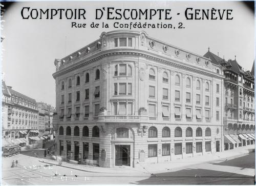 Genève, rue de la Confédération 2 : Comptoir d'escompte