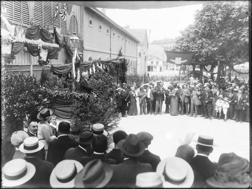 Genève, fêtes du Centenaire: discours prononcé au boulevard Helvétique