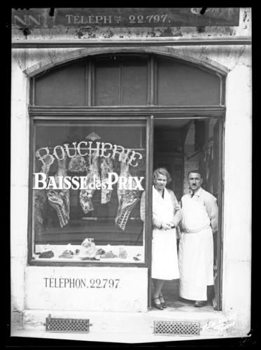 Genève, rue de Bâle: boucherie