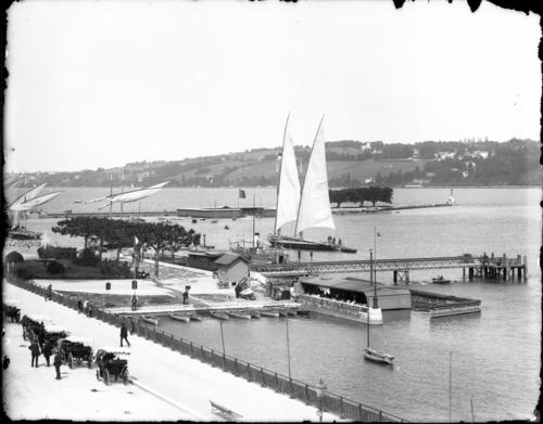 Genève, les Pâquis: la jetée et le débarcadère