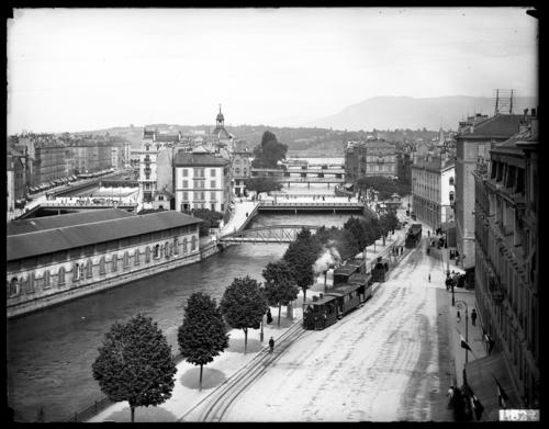 Genève, quai de la Poste