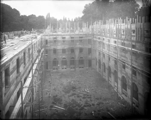 Genève, rue de Lausanne: siège du Bureau international du travail en construction, actuellement siège de l'Organisation mondiale du Commerce