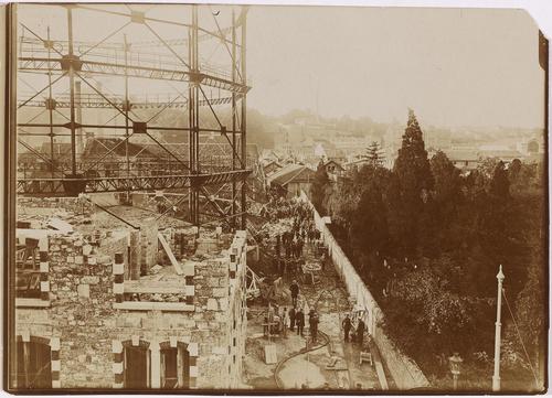 Genève, après l'explosion de l'usine à gaz de la Jonction