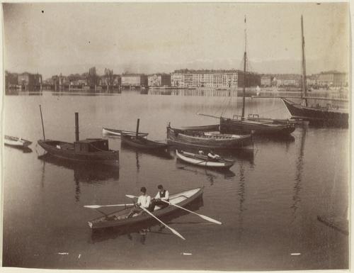 Genève, la rade vue du quai Gustave-Ador
