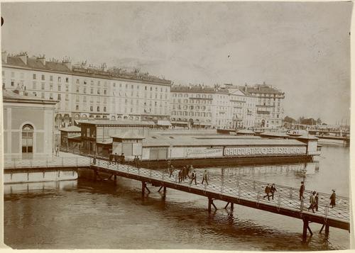 Genève, pont de la Machine: bains flottant