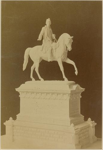 Genève, place de Neuve: projet pour la statue équestre du général Dufour