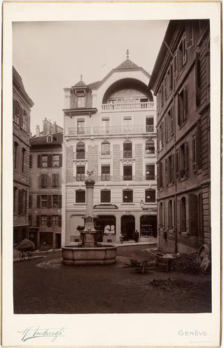 Genève, rue de la Cité et place du Grand-Mézel