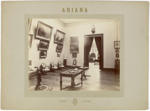 Genève, avenue de la Paix: vue intérieure du Musée Ariana