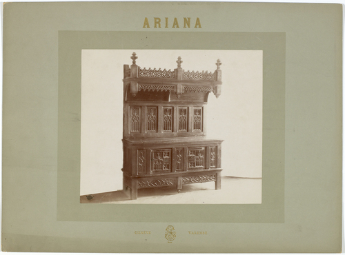 Genève, avenue de la Paix: musée de l'Ariana, meuble