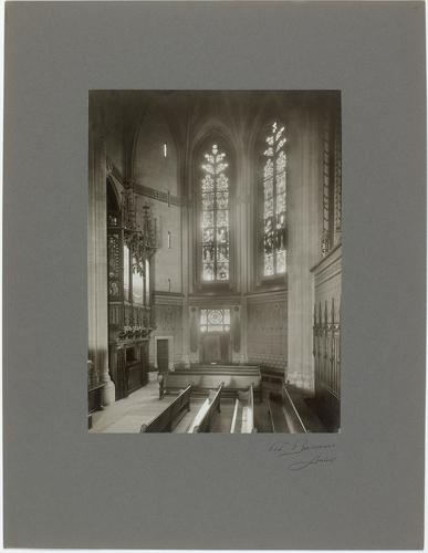 Genève, cour de Saint-Pierre: vue intérieure de la chapelle des Macchabées