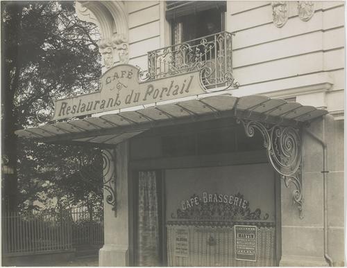 Genève, rue de la Servette: restaurant du Portail
