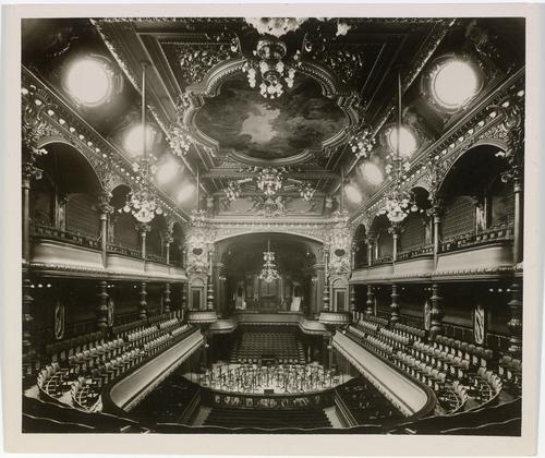Genève, rue Général-Dufour: Victoria hall (vue intérieure)