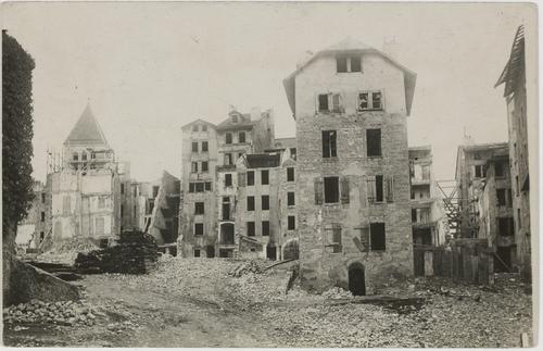 Genève, démolitions du quartier du Seujet