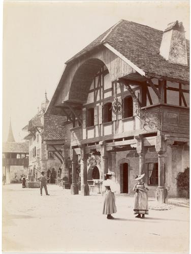 Genève, Exposition nationale: la Grand'rue (côté gauche) du village suisse