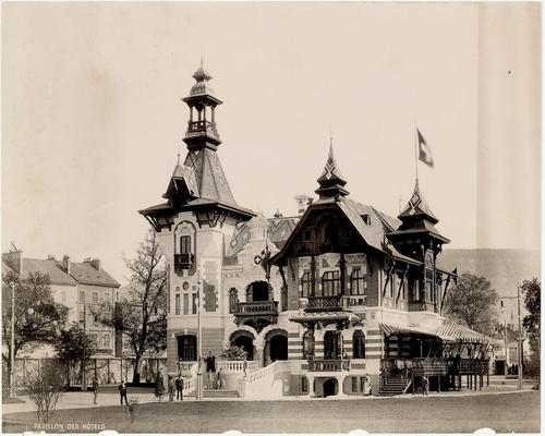 Genève, Exposition nationale: pavillon des hôtels