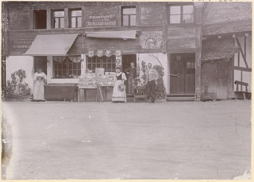 Genève, Exposition nationale: magasin de souvenirs au village suisse