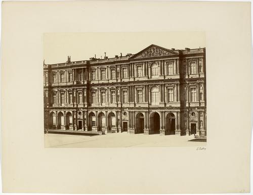 Paris, reportage photographique sur la construction du Nouveau Louvre de Lefuel