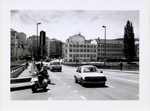 Genève, pont de Sous-Terre: vue en direction de la Jonction