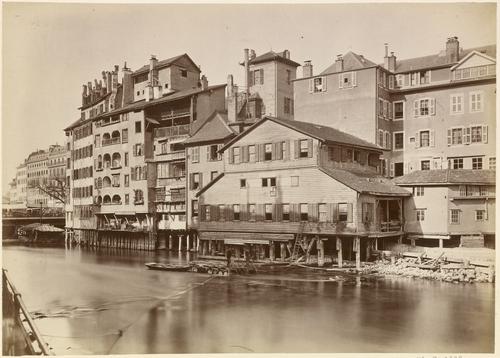 Genève, Île: ancienne machine hydraulique