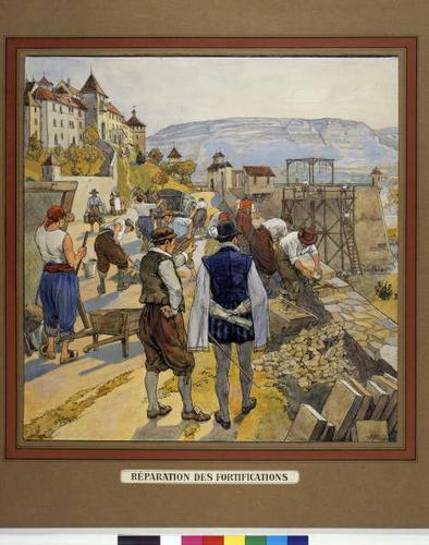Genève, réparation des fortifications