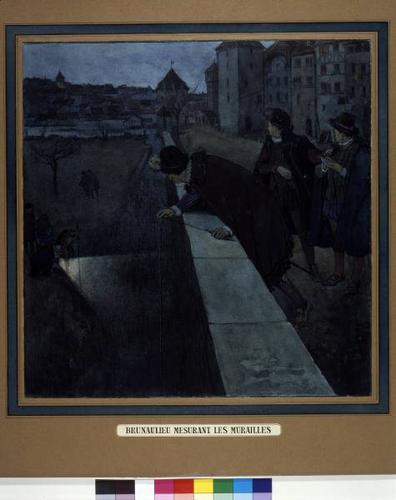 Brunaulieu mesurant les fortifications