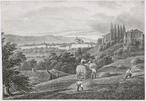 Genève, vue prise de l'institut de Champel