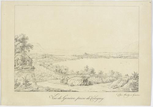 Genève, vue prise de Cologny