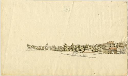 Genève, une partie de la ville prise de Plainpalais