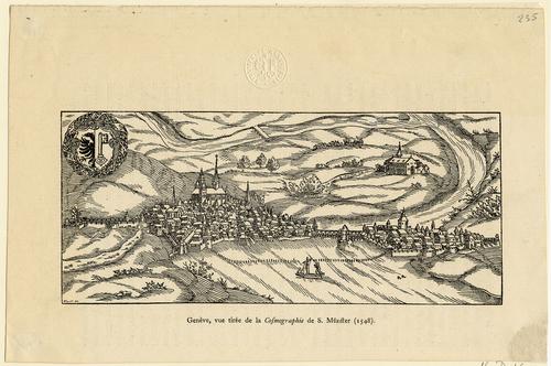Vue de Genève prise du Lac et du Nord