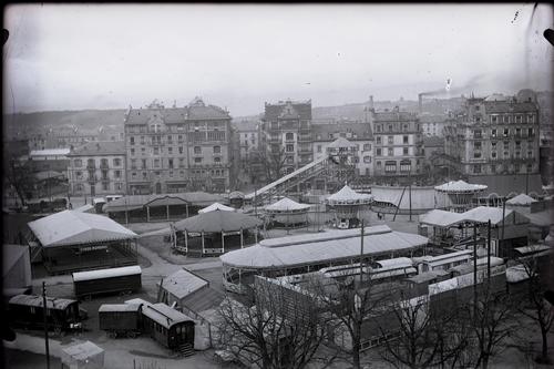Genève, plaine de Plainpalais: champ de foire