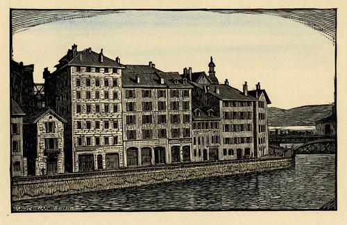 Genève, ancien quai du Seujet