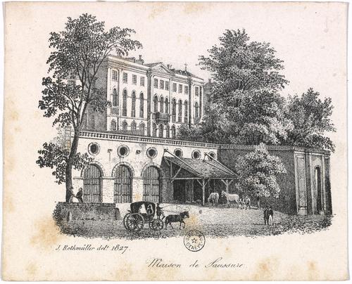 Genève, Corraterie: maison de Saussure