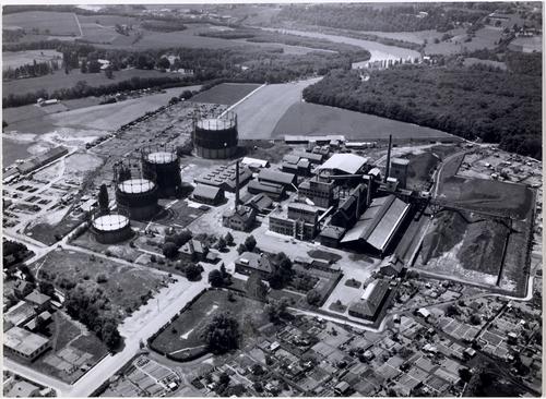 Vernier, usine à gaz: vue aérienne