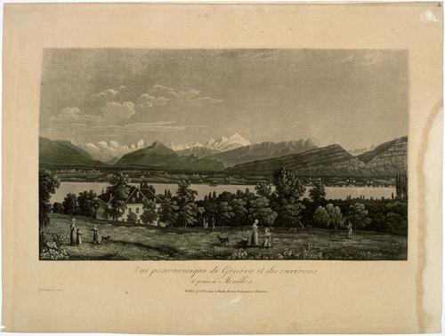 Vue de Genève prise de Morillon