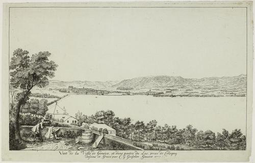 Genève, la ville vue de Cologny