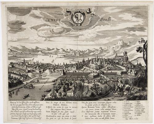 Vue de Genève prise du Midi