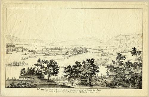 Genève, vue prise du bois de la Bâtie