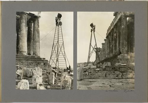 Grèce, Athènes: Fred Boissonnas photographiant le Parthénon