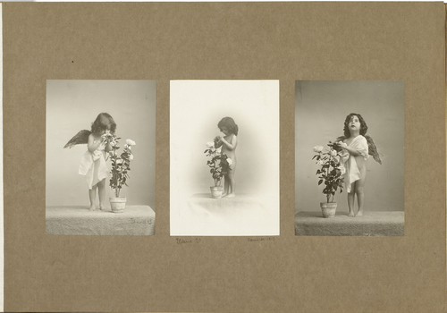 Eliane Boissonnas en ange